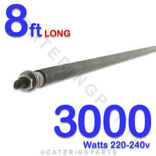 "HE9630 96"" / 8ft LONG 3000 watt 3kw DRY / WET ROD HEATING ELEMENT 220-240 volt"
