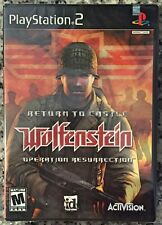 Return to Castle Wolfenstein Operation Resurrection (PS2, 2003) SEALED NEW -NICE