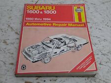Subaru 1600 and 1800 1980 Thru 1994 by Haynes Automotive Repair Manual