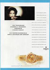 BELLEU998-PUBBLICITA'/ADVERTISING-1998- ROLEX LADY-DATEJUST (versione A)
