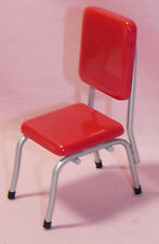 Dollhouse Miniature Chair Red Retro Style Kitchen T5913  1:12 Scale