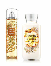 Bath & Body Works Warm Vanilla Sugar Body Lotion and Fragrance Mist Spray Set