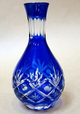 BEAUTIFUL HAND CUT BLUE KAGAMI GLASS VASE
