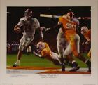"Alabama football ""Running thru the T"" print signed by Daniel Moore"