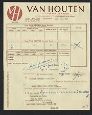 """BOULOGNE-sur-SEINE (92) CHOCOLAT / CACAO VAN HOUTEN """"VAN HOUTEN & ZOON"""" en 1954"""