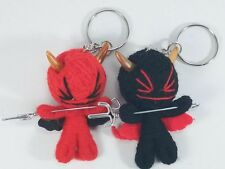 a couple Devil Voodoo String Doll Keychain Key Ring Ornament Accessory Toy Gift