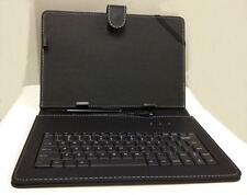 "10.1"" Case with Micro USB Keyboard Stylus for Android Tablet PU Leather Black"