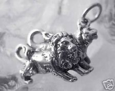 LOOK Lion lioness Sterling Silver Charm pair love noahs ark