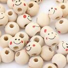 40Pcs Round Wood Spacer Loose Beads Charms Findings Accessories Jewelry 10mm