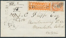 1877 Gore Bay to Manitowaning, Registered, #F1, via Spanish River