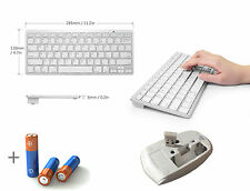 White Wireless Mini Keyboard and Mouse for SAMSUNG SMART TV