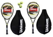 2 x Wilson Tour Slam Tennis Rackets + Covers + 3 Balls RRP £110 G