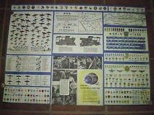 POSTER * Aircraft & Uniform Insignia - Military Planes WWII 33 x 23 * Ships FREE