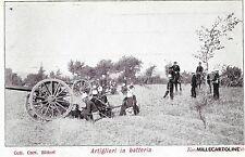 MILITARE - ARTIGLIERIA - Artiglieri in batteria - Esercito Italiano