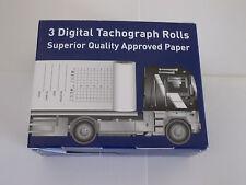 3 Rollos De Impresora tacógrafo digital (1 Caja de 3) ambiente, PCV, camión, carro, Tacógrafo