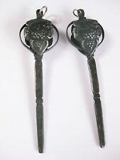 2 antike Miederstecker Silber 835