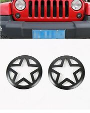 2pcs Red Front Turn Signal Light Lamp Cover Trim For 07-17 Jeep Wrangler & JK