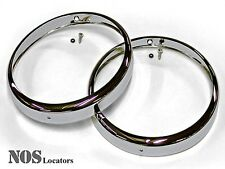 MGTF, MGA, Bugeye Sprite Chromed Headlight Rims w/Chrome Rivet