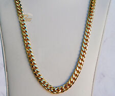 "10K Gold Miami Men's Cuban Curb Link Chain Necklace Heavy 91.4 Grams 24""  7mm"