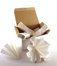 N°100 FILTRI di carta piegati a mano diametro 20 cm (liquori, distillati,grappa)