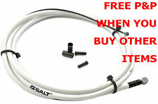 BCSA11AMB SALT AM HIGH SLIC TEFLON COATED BMX BRAKE CABLE WHITE 1.3M