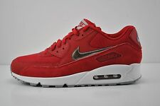 Men Nike Air Max 90 Essential Running Shoe Size 10 Red White Silver 537384 602