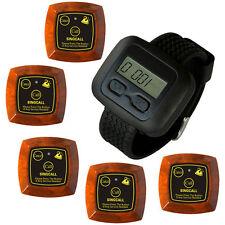 SINGCALL.Wireless Nursing Systems,1 Waiter Watch Receiver,5 multi-Button Bells