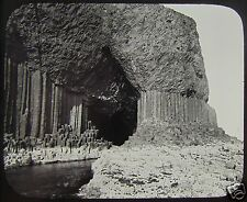 GWW Glass Magic Lantern Slide FINGALS CAVE STAFFA C1890 SCOTLAND