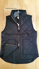 NWT J.Crew Factory Excursion Quilted Puffer Vest Black Size M 2016 NEW!!