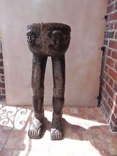 "Arts of Africa - Baule Drum - Cote d ' Ivoire  - 33"" Height x 12"" Wide 38"" Cir"
