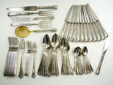Emile PUIFORCAT - 64 Piece Set of 950 Silver Flatware - Fer De Lance / Gothic