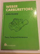 WEBER DCD DCOE CARBURETTORS By JOHN PASSINI tune tuning SPEED SPORT MANUAL 1 & 2