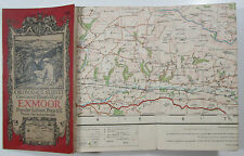 1925 old vintage OS Ordnance Survey one-inch Popular Edition Map 119 Exmoor