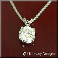 0.50CT MOISSANITE ROUND FOREVER ONE SOLITAIRE CLASSIC GOLD PENDANT