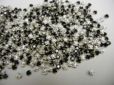 350 swarovski rose montees,12ss jet/sterling plate finish  special price