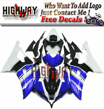 WR Fairings Fit Yamaha YZF 600 R6 08-15 ABS Plastic IVECO Blue White Fairing Kit
