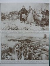 1915 FLANDERS TRENCH PUMP, JOFFRE & FRENCH, SHATTERED MORTUARY WWI WW1