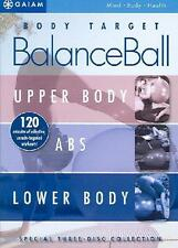 3 Body Target BALANCE BALL Suzanne Deason Workout SET Upper + Lower + ABS +BONUS