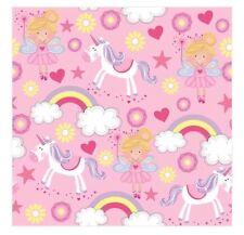 Unicorn Fairy tovaglioli di carta rosa festa di compleanno Castello Principesse stoviglie