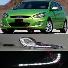 2x For Hyundai accent 2012-2013 White LED Daytime Day Fog Lights DRL Run lamp