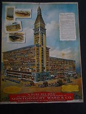 MONTGOMERY WARD & CO CHICAGO Sectional Building View THE NINETEENTH CENTURY