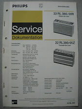Philips 22 RL380 Kofferradio Rallye Tornado Service Manual Ausgabe 04/71