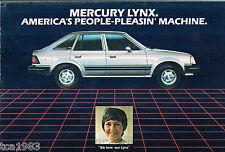 1983 Mercury LYNX Dealer Brochure / Catalog / Flyer: LTS