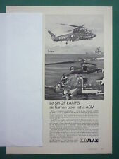5/1974 PUB KAMAN HELICOPTER SH-2F LAMPS SEASPRITE US NAVY ASM FRENCH AD