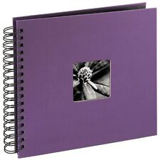 Spiral Bound Album Scrapbook, 28 x 24 cm, 50 black pages, Purple - 100 Photos