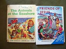 Lot of 2 - The Animals at the Seashore & Friends of Jesus (Little Hardcovers)