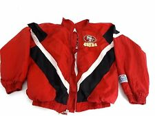 NFL TOUCHDOWN BOYS RED SAN FRANCISCO 49ERS POLYESTER WINDBREAKER SIZE M 8-10