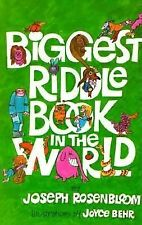 Biggest Riddle Book in the World Rosenbloom, Joseph Paperback