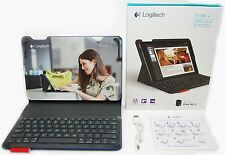 Logitech Type+ iPad Air 2 Blue Keyboard Folio Bluetooth Auto Wake Case Stand -A-