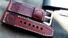 26mm Vintage Handmade leather watch strap ,Officine Panerai, Flottiglia Mas